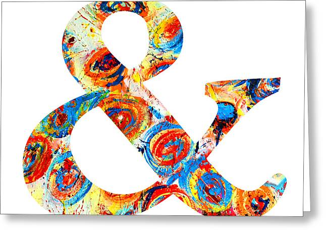 Ampersand Symbol Art No. 6 Greeting Card by Patricia Awapara