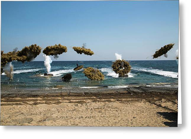 Amphibious Assault Training At Doksukri Greeting Card by Stocktrek Images