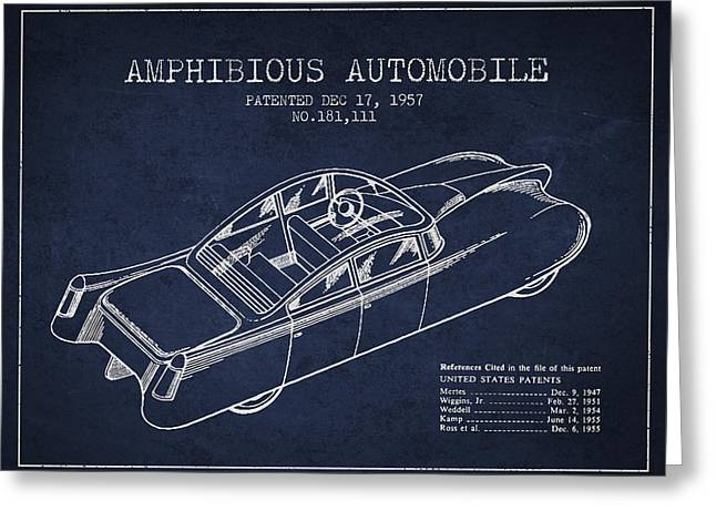 Amphibious Automobile Patent From 1957 Greeting Card by Aged Pixel