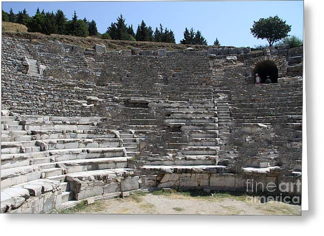 Amphitheater Ephesus Ruins Greeting Card by Christiane Schulze Art And Photography