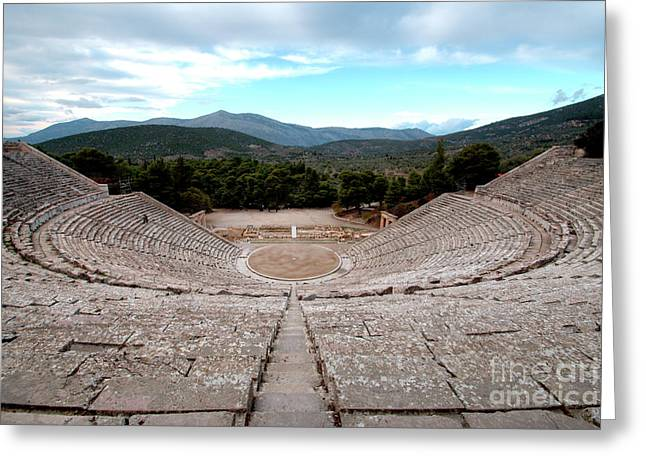 Amphitheatre At Epidaurus 2 Greeting Card