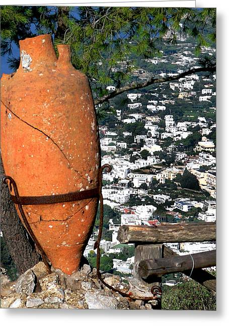Amphora On Island Of Capri 1 Greeting Card