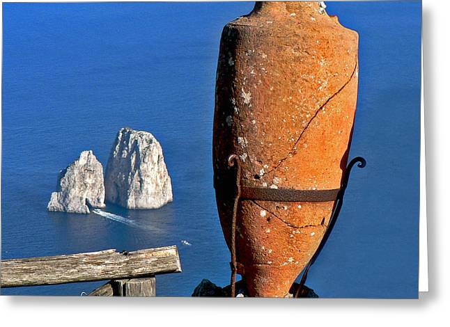 Amphora On The Island Of Capri 2 Greeting Card