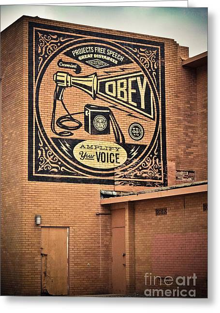 Amplify Your Voice Greeting Card by Colleen Kammerer