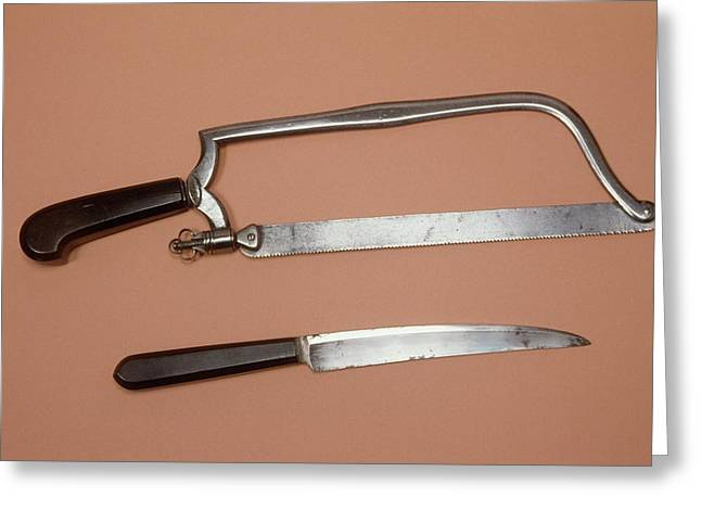 Amputation Instruments Greeting Card by Science Photo Library