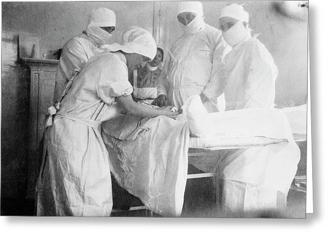 Amputation Surgery Greeting Card by Library Of Congress