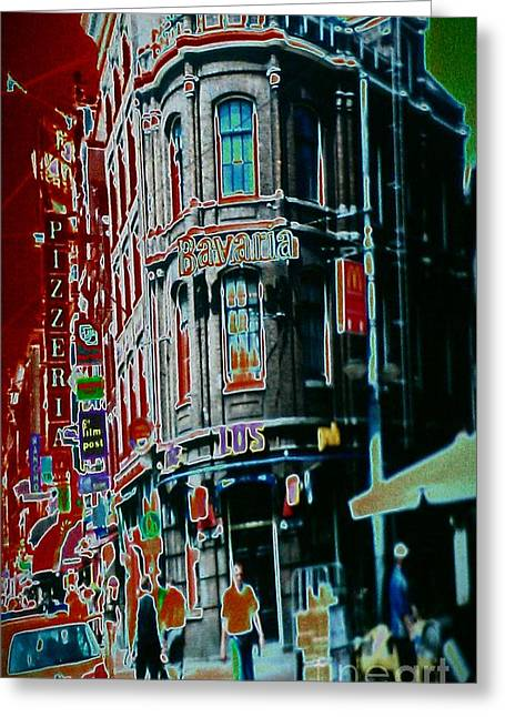 Amsterdam Abstract Greeting Card