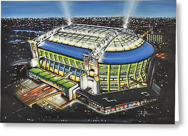 Amsterdam Arena - Ajax Greeting Card by D J Rogers