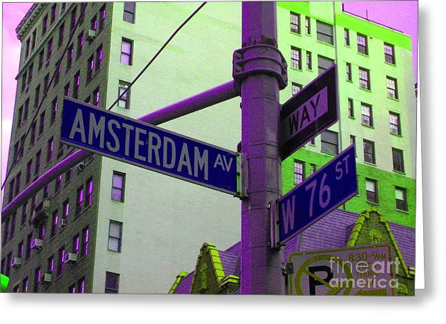 Amsterdam Avenue Greeting Card