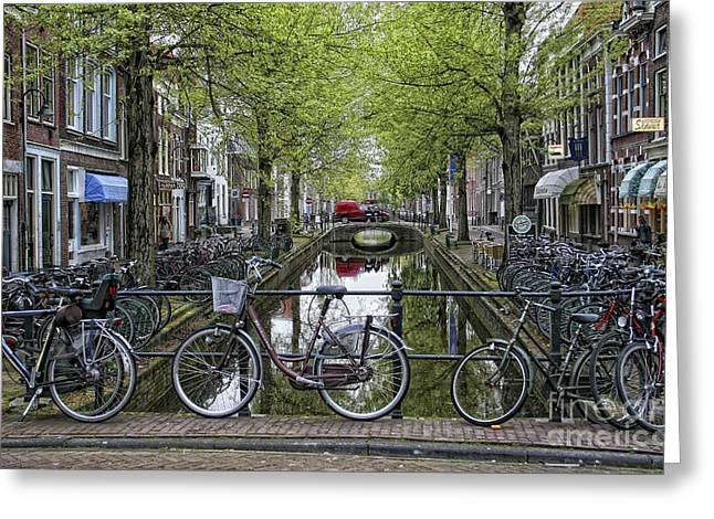 Amsterdam Bicycles Greeting Card