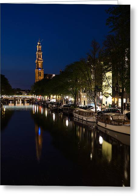 Amsterdam Blue Hour Greeting Card