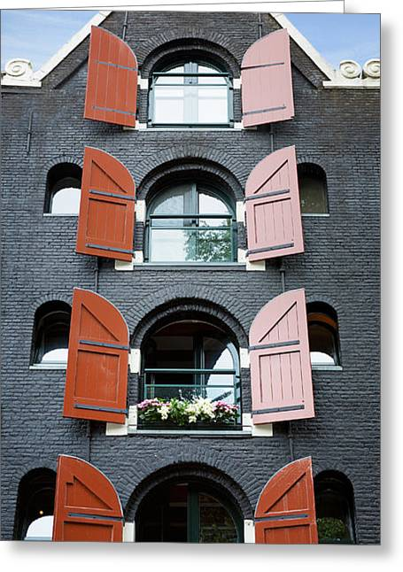 Amsterdam Building Greeting Card by Jane Rix