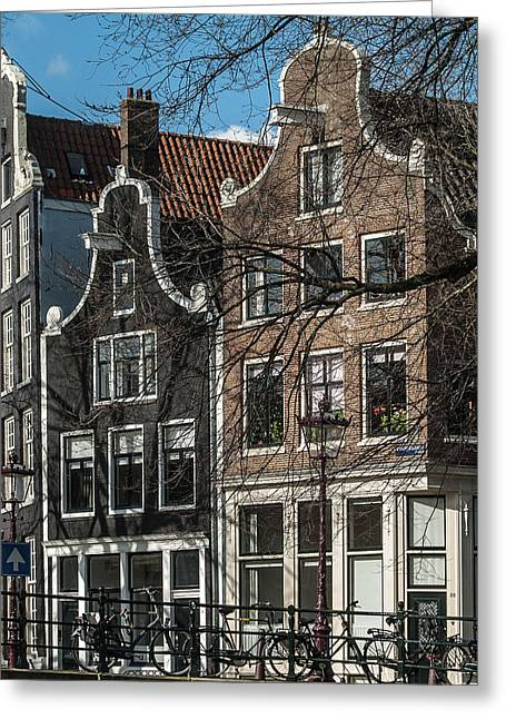 Amsterdam Canal Houses #1 Greeting Card