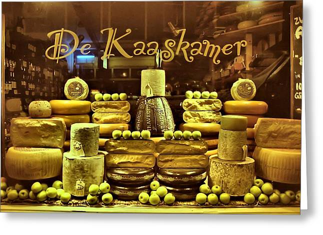 Amsterdam Cheese Shop Greeting Card by Steven Richman