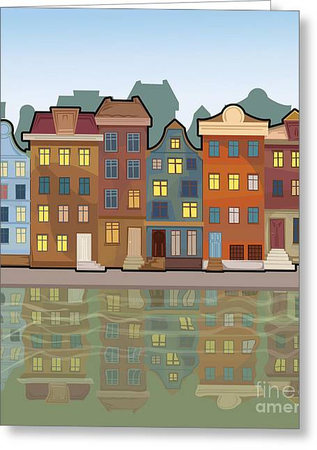 Amsterdam City With Reflections In A Greeting Card