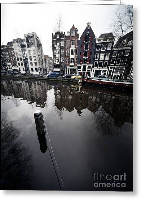 Amsterdam Houses Greeting Card