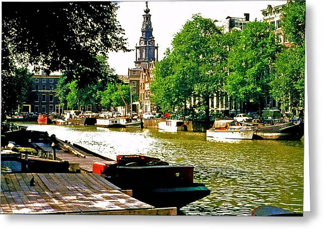 Greeting Card featuring the photograph Amsterdam by Ira Shander