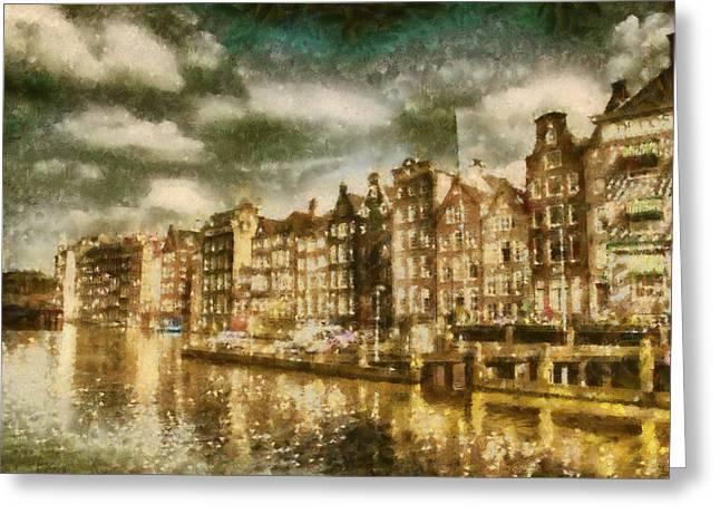 Amsterdam Greeting Card by Jose Maqueda