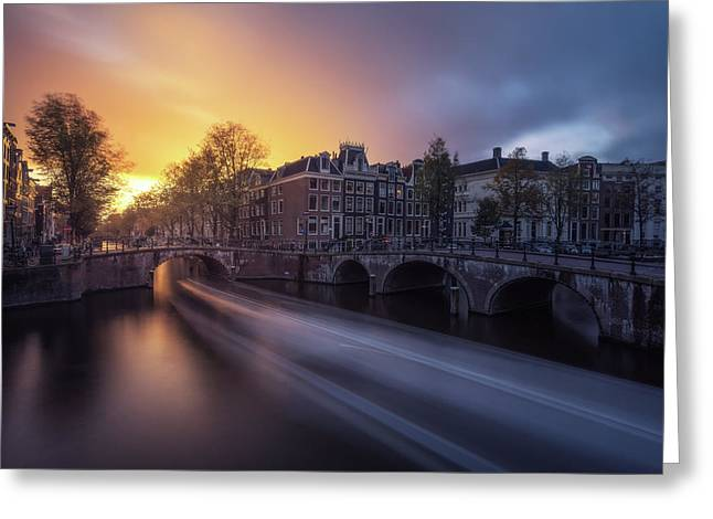 Amsterdam - Keizersgracht Greeting Card by Jean Claude Castor