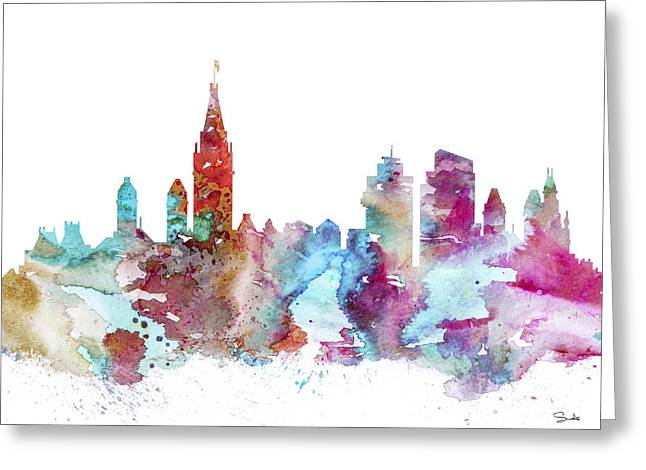 Amsterdam Greeting Card by Watercolor Girl