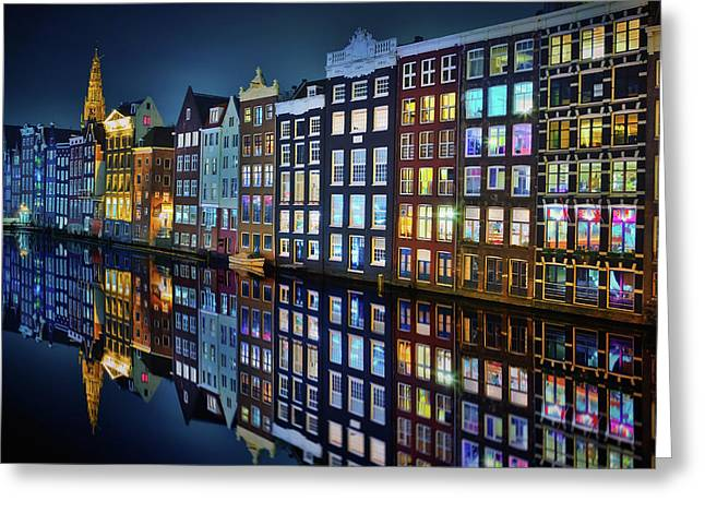 Amsterdam Mirror. Greeting Card