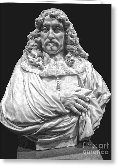 Amsterdam Rijksmuseum Classic Bust - 09 Greeting Card by Gregory Dyer