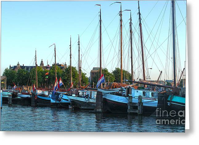 Amsterdam Sailing Ship - 06 Greeting Card by Gregory Dyer