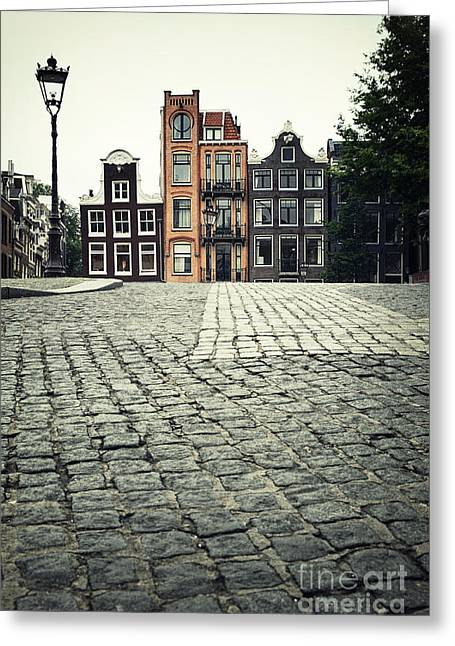 Amsterdam Street Greeting Card by Jane Rix