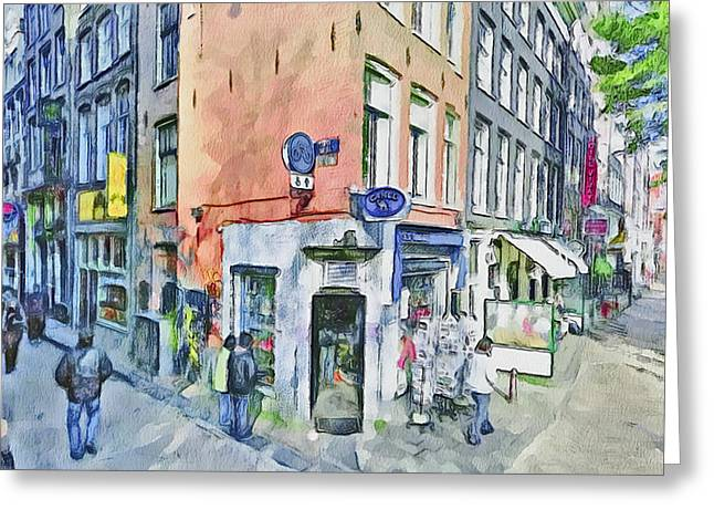 Amsterdam Streets 3 Greeting Card by Yury Malkov