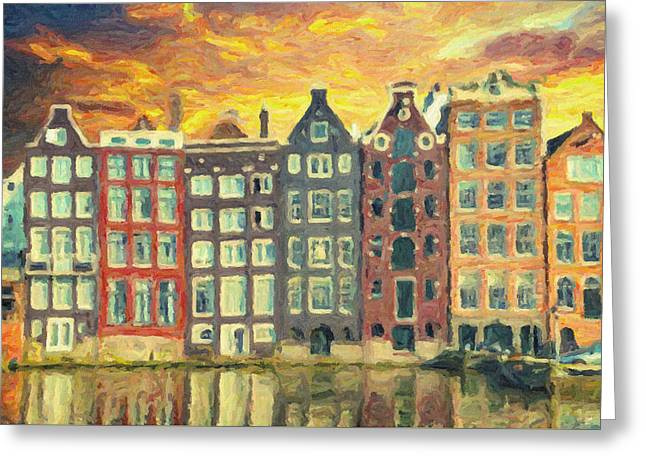 Amsterdam Greeting Card by Taylan Apukovska