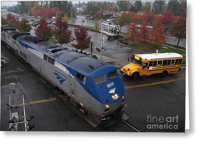 Amtrak 122 In Salem Greeting Card