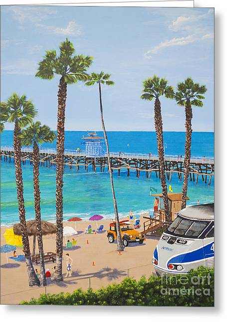 Greeting Card featuring the painting Perfect Beach Day by Mary Scott