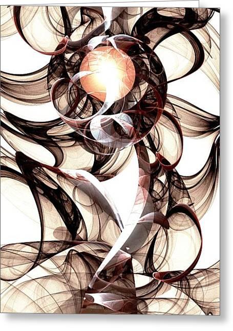 Amulet Of Chaos Greeting Card by Anastasiya Malakhova
