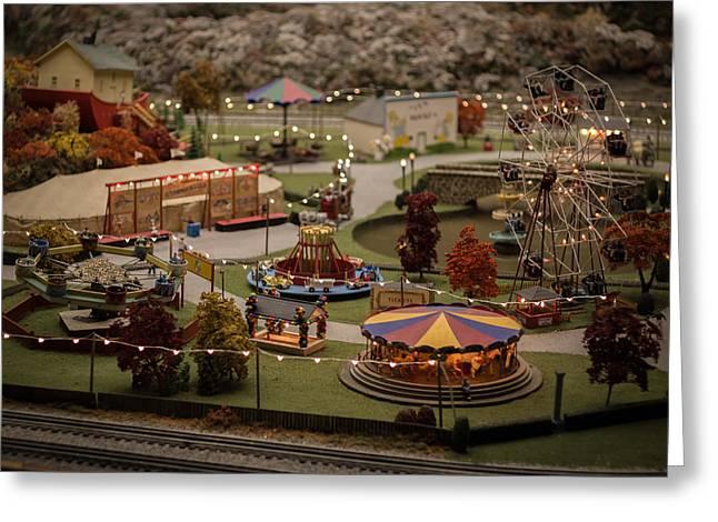 Amusement Park Greeting Card by Carl Engman