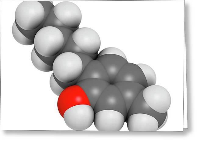 Amylmetacresol Antiseptic Drug Molecule Greeting Card by Molekuul