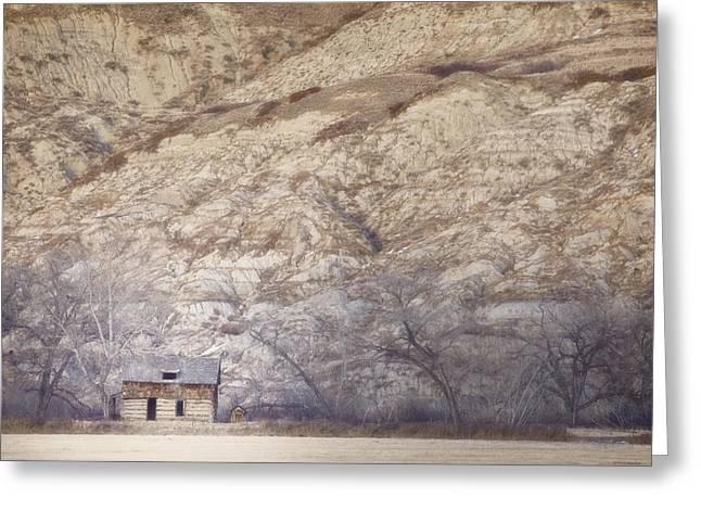 An Abandoned Farmhouse At The Base Greeting Card by Roberta Murray