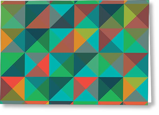 An Abstract Geometric Vector Pattern Greeting Card