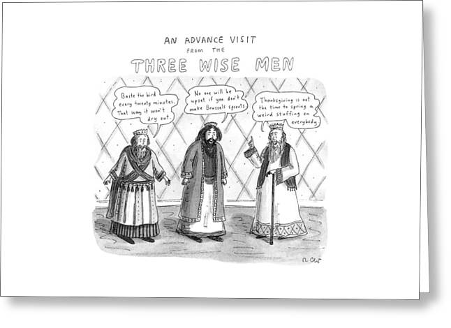 An Advance Visit From The Three Wise Men Greeting Card