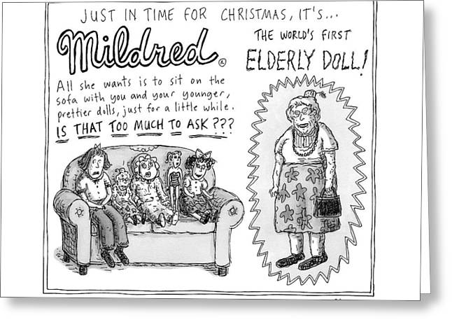 An Advertisement For Mildred Greeting Card