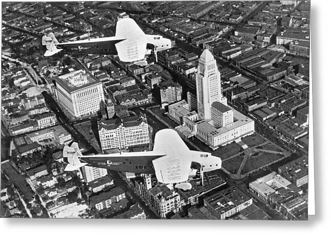 An Aerial View Of Los Angeles Greeting Card