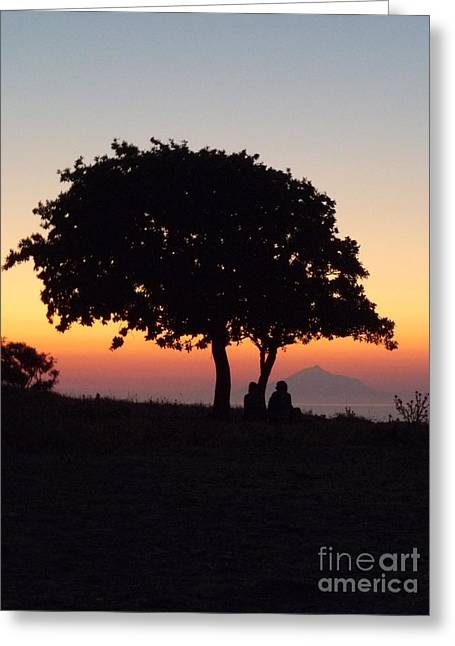 An African Sunset Greeting Card by Vicki Spindler
