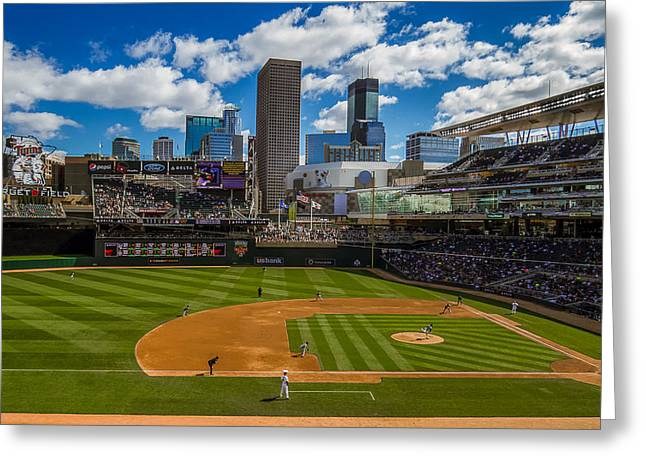 An Afternoon At Target Field Greeting Card by Tom Gort