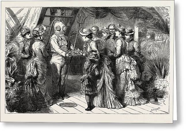 An Afternoon Party On Board H.m.s Greeting Card