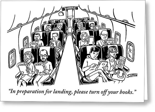 An Airplane Is Seen Full Of Passengers Holding Greeting Card