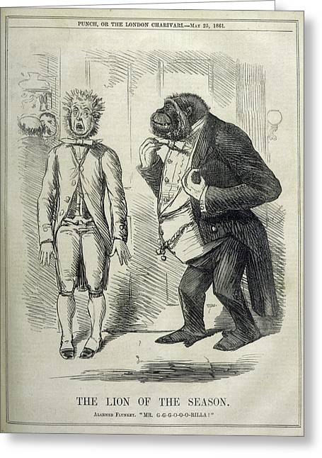 An Alarmed Flunkey Introduces  Mr Greeting Card by Mary Evans Picture Library