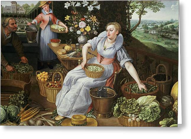 An Allegory Of Summer Greeting Card by Lucas van Valckenborch