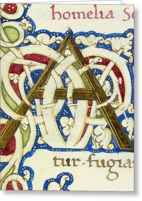 An Alphabet Initial Ornamental Letter Greeting Card by British Library