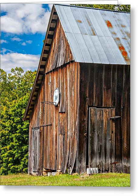 An American Barn Greeting Card by Steve Harrington