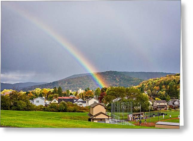 An American Rainbow Greeting Card by Steve Harrington