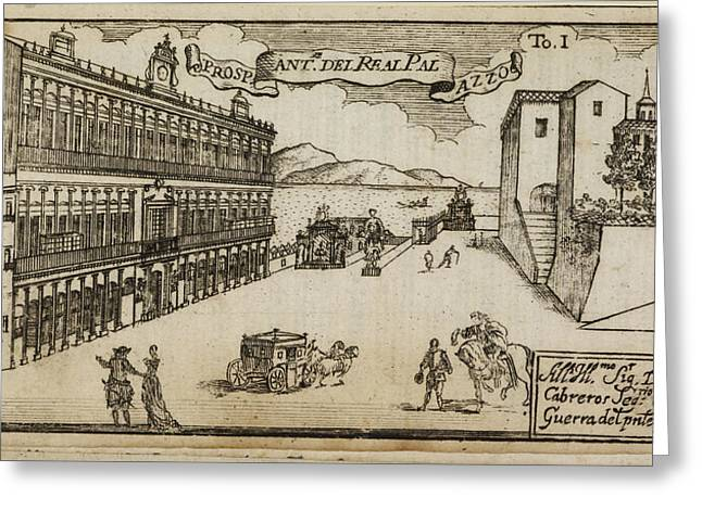 An Ancient Illustration Of Naples Greeting Card by British Library